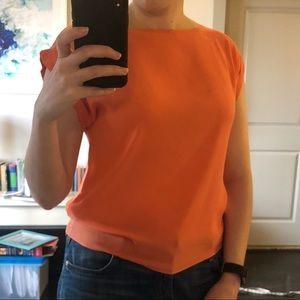 Alice + Olivia Tops - Alice + Olivia orange silk top